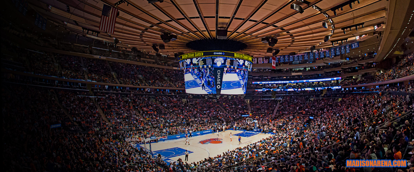 The Knicks At Madison Square Garden Madison Square Garden In Manhatten New York