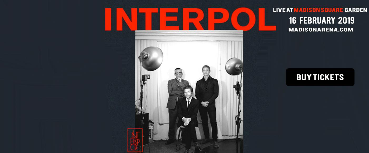Interpol at Madison Square Garden