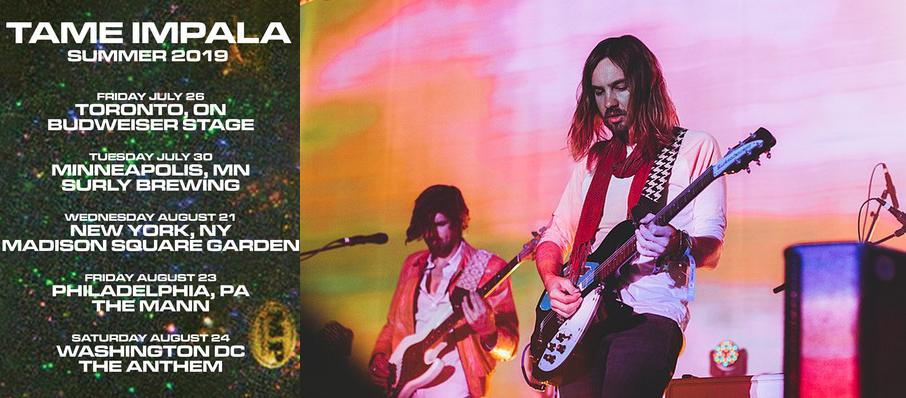 Tame Impala at Madison Square Garden