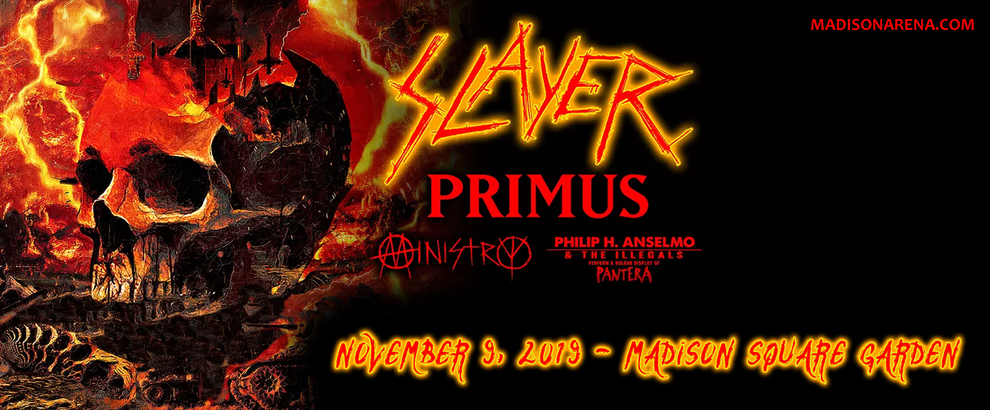 Slayer, Primus, Ministry & Philip H. Anselmo at Madison Square Garden