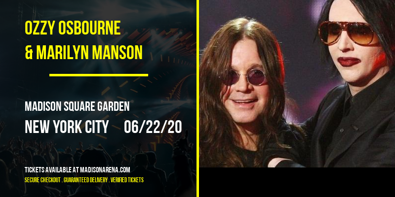 Ozzy Osbourne & Marilyn Manson at Madison Square Garden