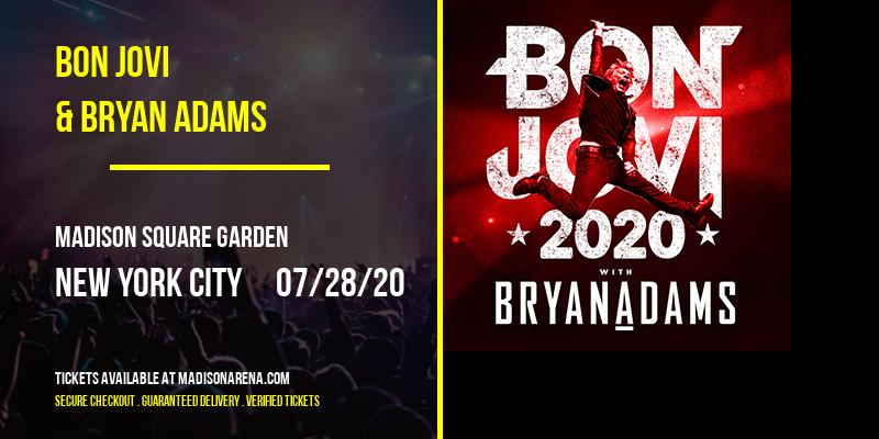 Bon Jovi & Bryan Adams at Madison Square Garden