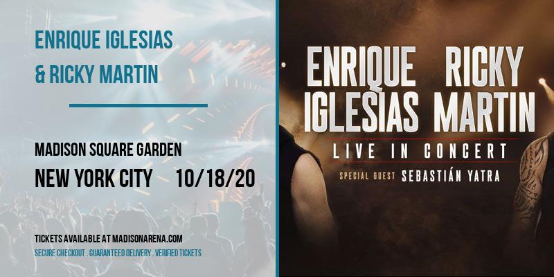 Enrique Iglesias & Ricky Martin at Madison Square Garden