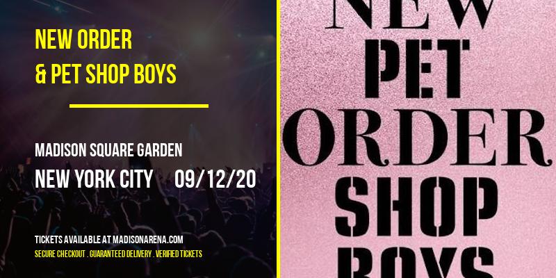 New Order & Pet Shop Boys [POSTPONED] at Madison Square Garden