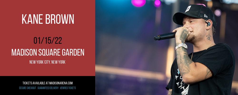 Kane Brown at Madison Square Garden