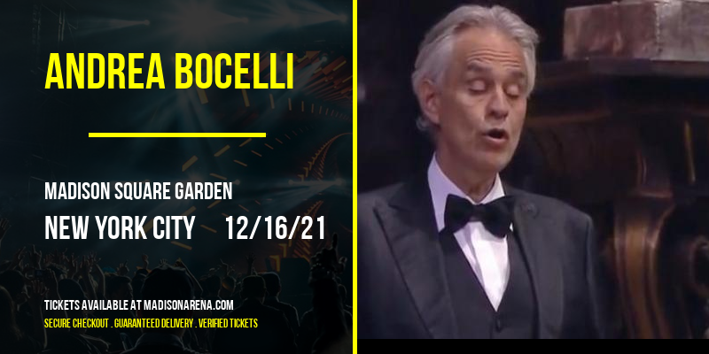 Andrea Bocelli [CANCELLED] at Madison Square Garden