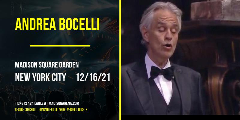 Andrea Bocelli at Madison Square Garden